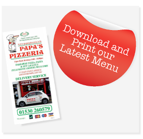 Download Papas Pizzeria Menu